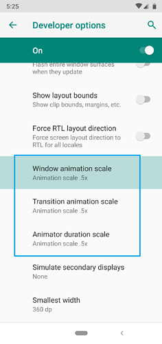 Animation speed setting