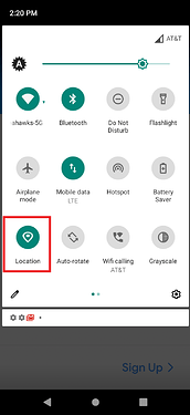 Location quick setting